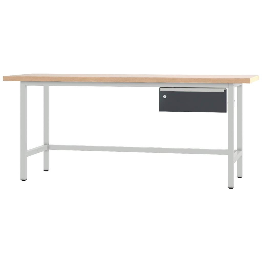 PADOR Werkbank »31-WT-001/20 R«, B/T/H: 200x70x85,5 cm