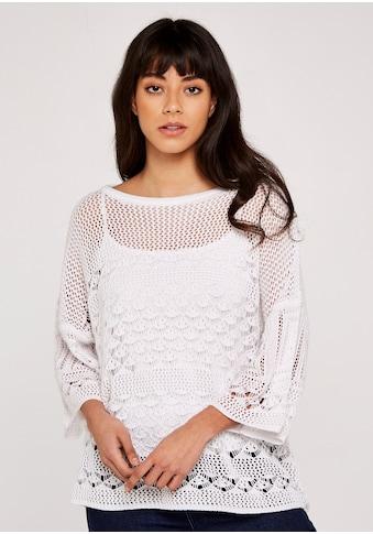 Apricot Strickpullover »Crochet Knit Bell Sleeve Top«, im Lagenlook kaufen