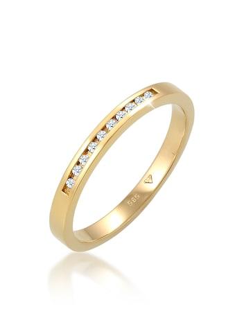 Diamore Diamantring »Verlobung Bandring Diamant 0.10 ct. 585 Gelbgold« kaufen