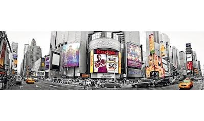 PAPERMOON Fototapete »New York Time Square Panorama«, Vlies, 2 Bahnen, 350 x 100 cm kaufen