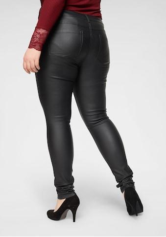 ONLY CARMAKOMA Skinny-fit-Jeans »Punk«, mit edel glänzender Beschichtung kaufen