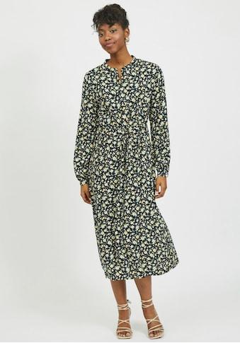 Vila Blusenkleid, mit Blütenmuster auf dunklem Grund kaufen