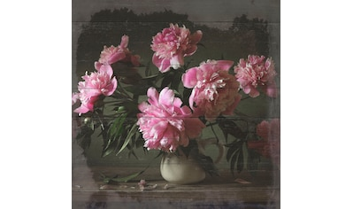 queence Holzbild »Keanu«, Blumen, (1 St.) kaufen