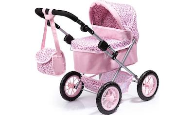 Bayer Puppenwagen »Trendy, rosa/Leopard«, mit Wickeltasche kaufen