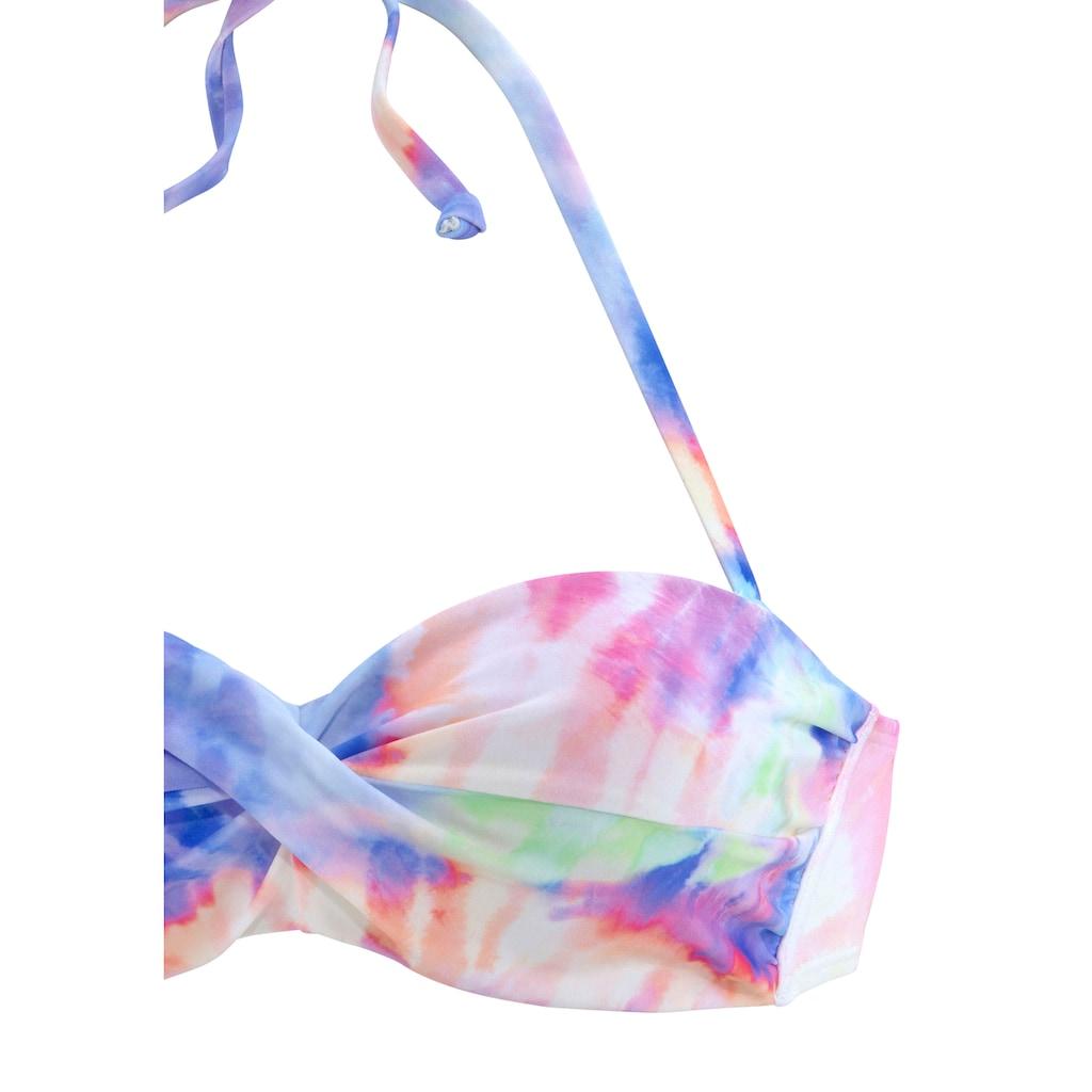 KangaROOS Bügel-Bandeau-Bikini, im Batik-Design