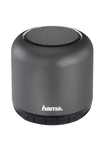 "Hama Mobiler Bluetooth® - Lautsprecher ""Steel Drum"", Anthrazi »Metallic rules« kaufen"