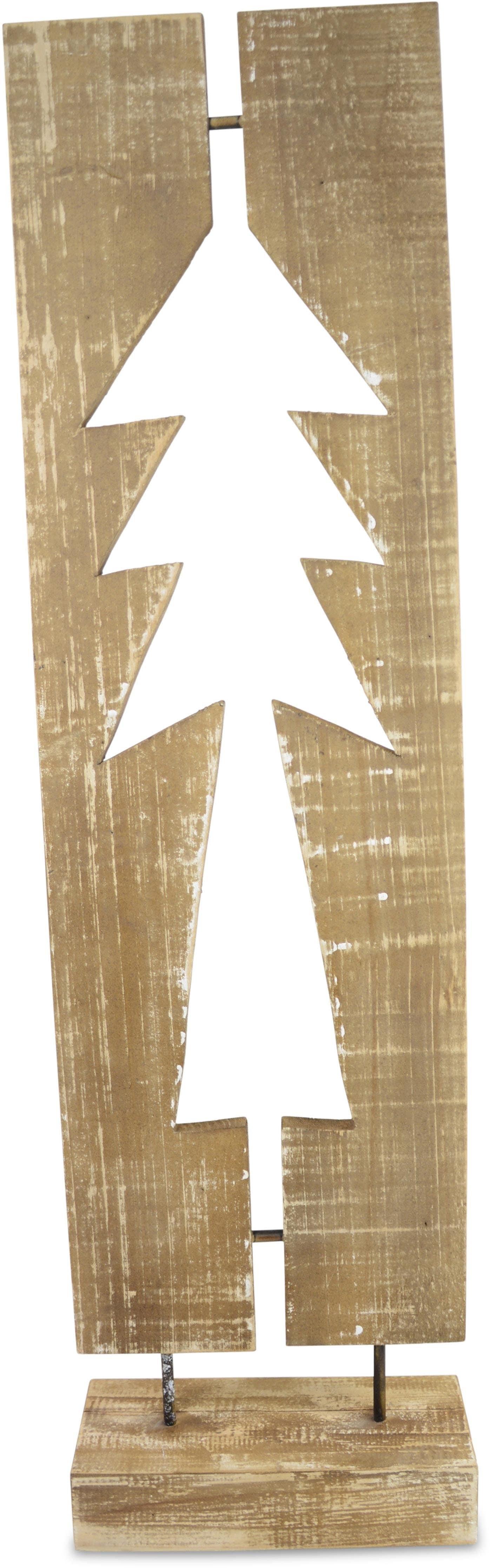 Dekoobjekt Tannenbaum beige Deko-Objekte Figuren Skulpturen Wohnaccessoires