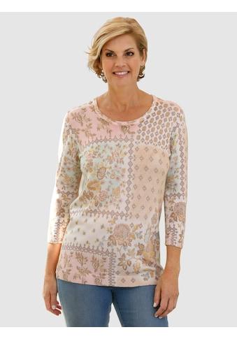 Paola Pullover mit schönem Blumendruck kaufen