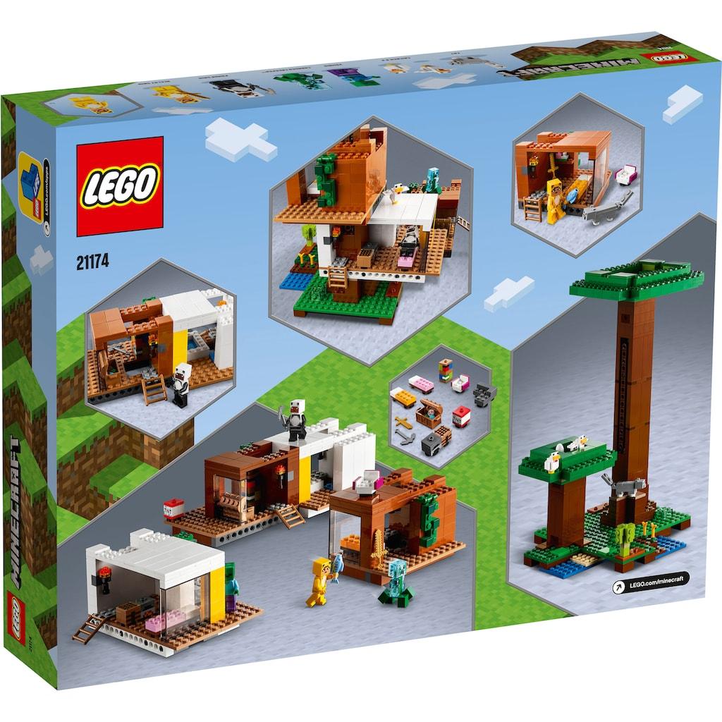 LEGO® Konstruktionsspielsteine »Das moderne Baumhaus (21174), LEGO® Minecraft™«, (909 St.)