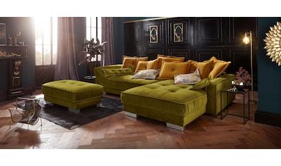 Leonique Polsterhocker »Diwan Luxus«, mit besonders hochwertiger Polsterung für bis zu 140 kg pro Sitzfläche kaufen