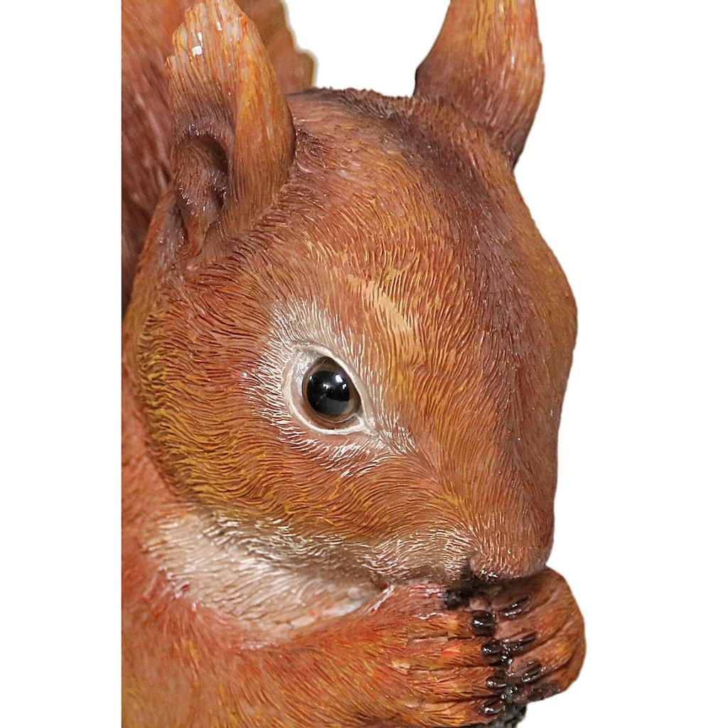 Casa Collection by Jänig Tierfigur »Eichhörnchen mit Vogeltränke, Höhe ca. 31,7cm«