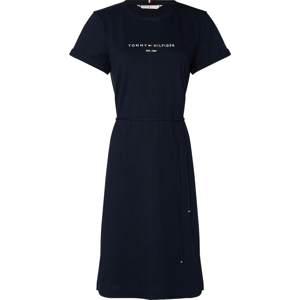 Tommy Hilfiger Curve Shirtkleid »CRV TH COOL REG HILFIGER DRESS«, mit gesticktem Tommy Hilfiger Linear Logo-Schriftzug