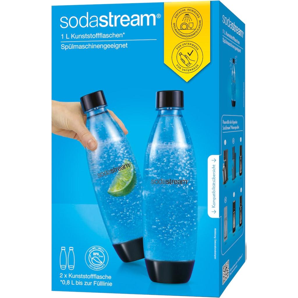 SodaStream Wasserkaraffe »DuoPack Fuse«, Kunststoff, Ersatzflaschen für SodaStream Wassersprudler mit PET-Flaschen