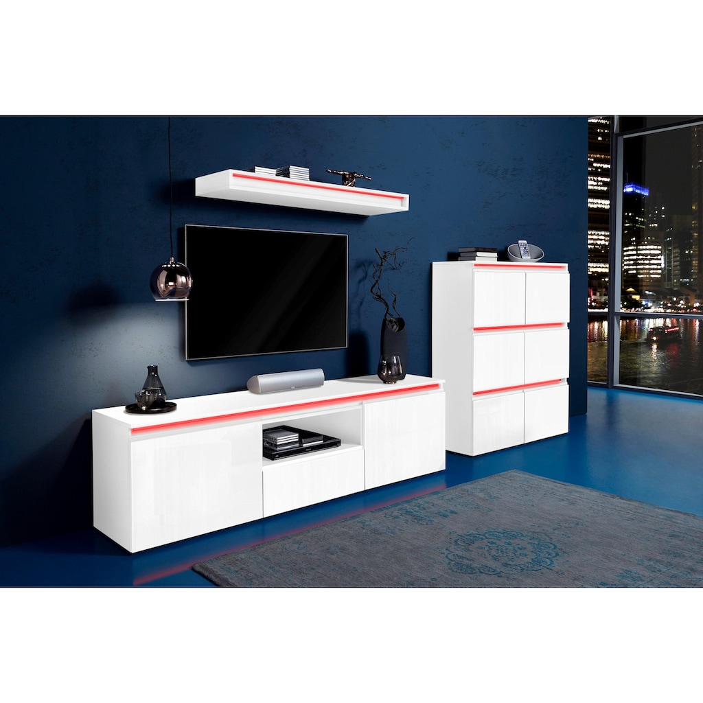 Tecnos Lowboard »Magic«, Breite 180 cm, ohne Beleuchtung
