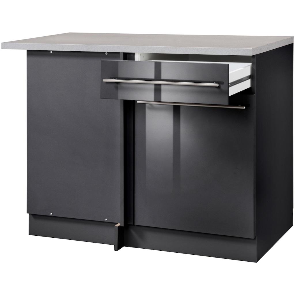 wiho Küchen Eckunterschrank »Chicago«, 110 cm breit, für eine optimale Raumnutzung