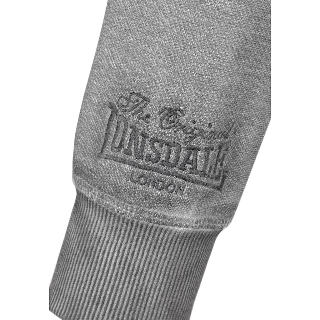 Lonsdale Sweatjacke mit asymmetrischem Reißverschluss