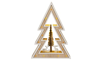 HGD Holz - Glas - Design LED - Weihnachtsbaum Country - Style kaufen