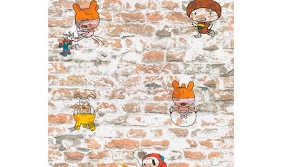 living walls Papiertapete »Boys & Girls«, Steinoptik, Backstein, umweltfreundlich kaufen