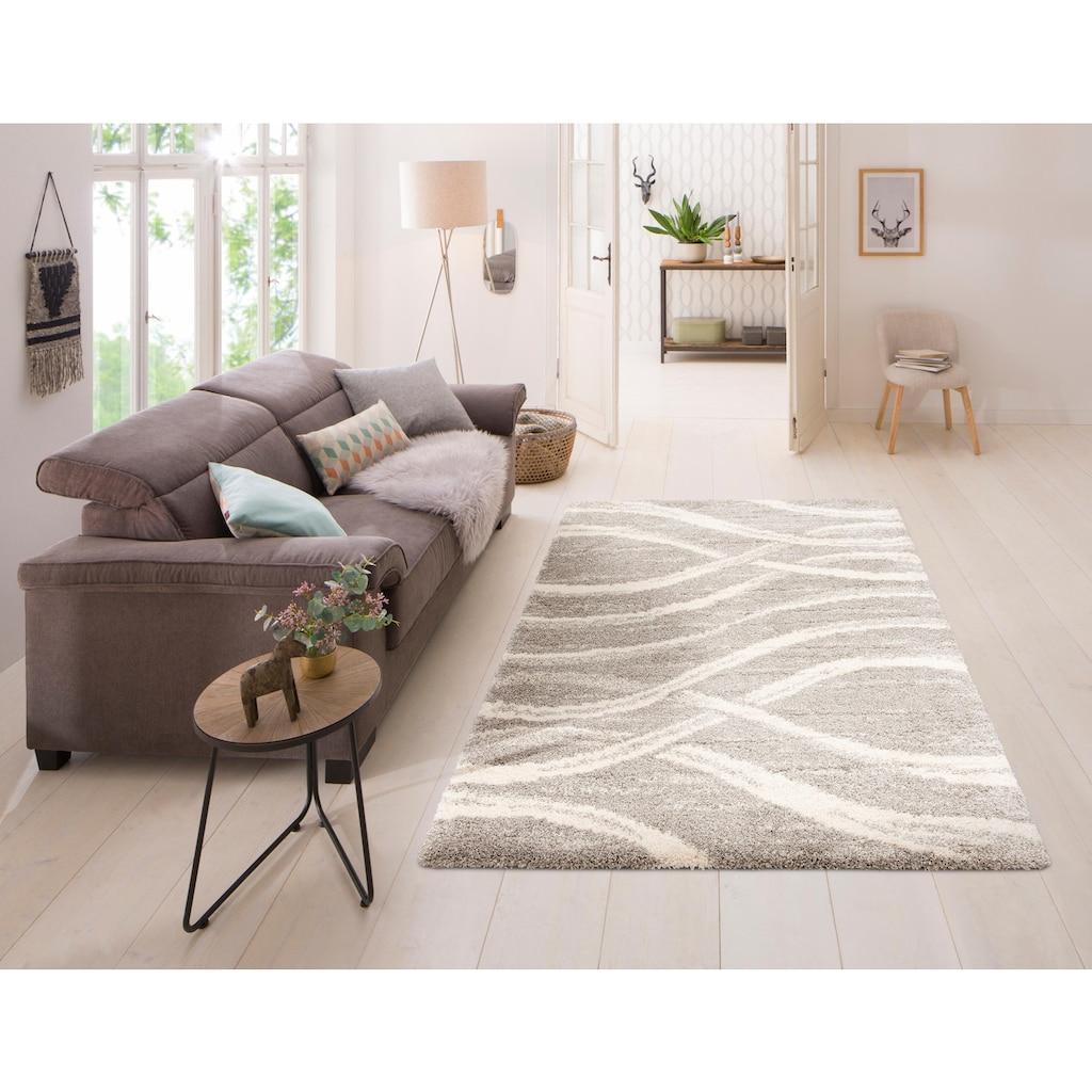 my home Hochflor-Teppich »Sandu«, rechteckig, 40 mm Höhe, weicher Flor, Wohnzimmer