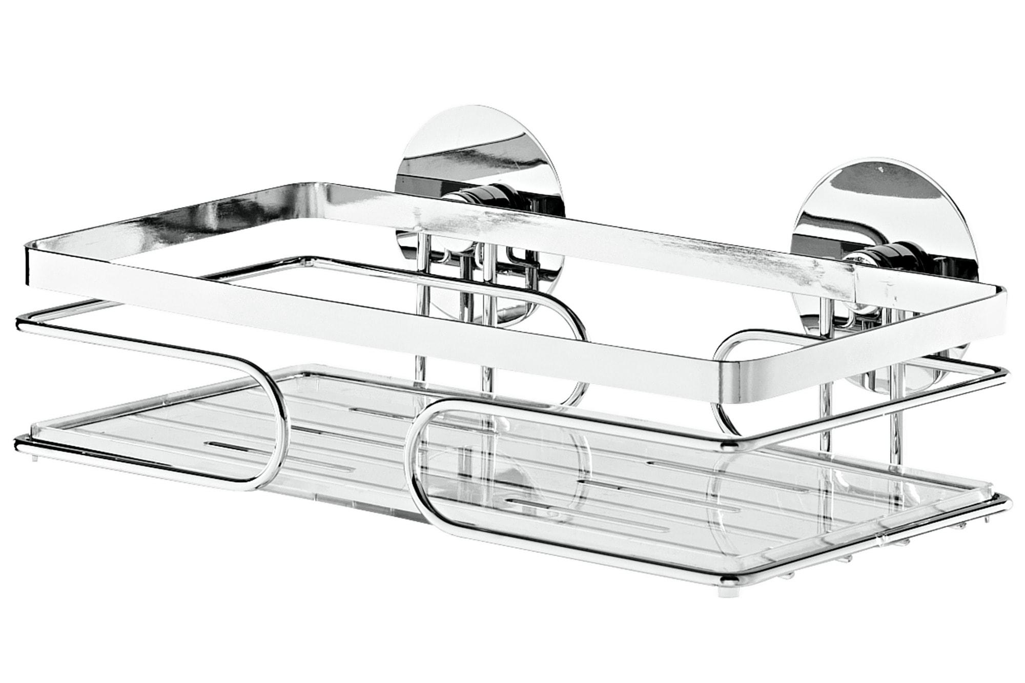 heine home Wandablage mit transparentem herausnehmbarem Einlegeboden Technik & Freizeit/Heimwerken & Garten/Bad & Sanitär/Duschen/Duschzubehör