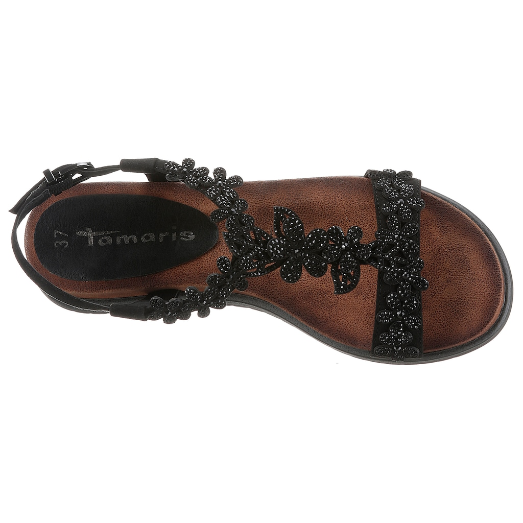 Tamaris Sandale »NOLLA«, mit aufwendig verzierten Riemchen