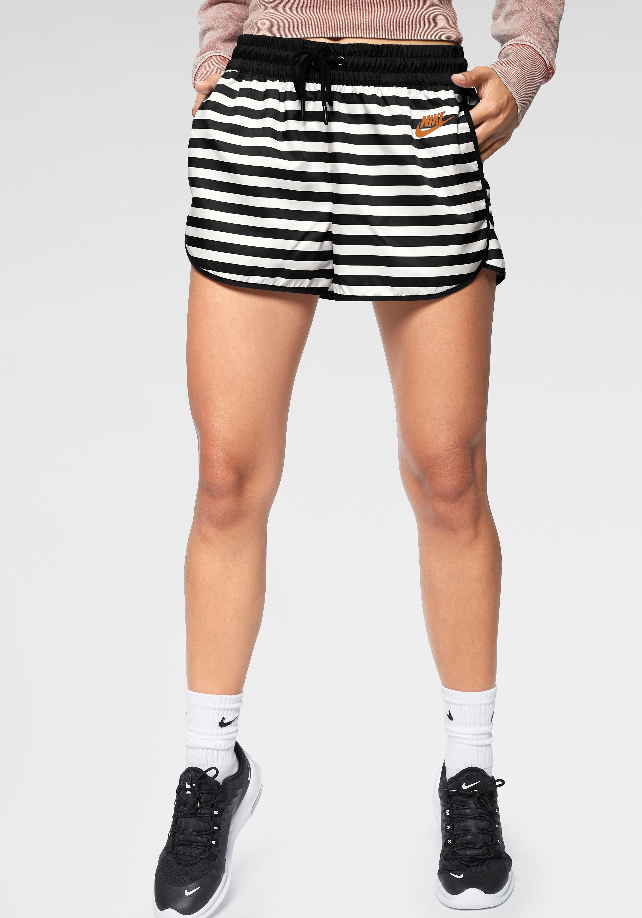 Nike Sportswear Shorts WOMAN NIKE SPORTSWEAR WHITE/BLACK/WHITE/DESERT OCHRE | Sportbekleidung > Sporthosen > Sportshorts | Nike Sportswear