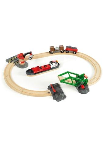 BRIO® Spielzeug-Eisenbahn »BRIO® WORLD Container Hafen Set«, FSC®-Holz aus... kaufen