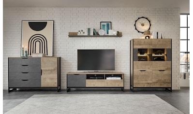 Places of Style Wohnzimmer-Set »Malthe«, (4 St.), im trendigen Design, 1 Kommode, 1... kaufen