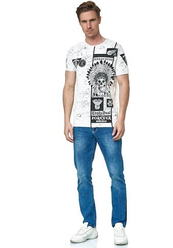 Rusty Neal T-Shirt, mit coolem Skull-Print kaufen