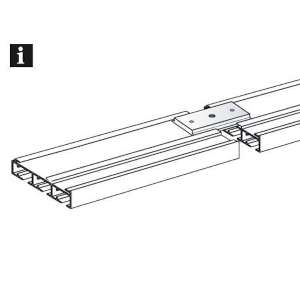 GARDINIA Gardinenstangenhalter »Gardinenschienen-Verbinder«, (1 St.), Serie Flächenvorhang-Technik Atlanta