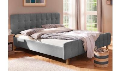 Home affaire Polsterbett »Larvik«, mit aufwendiger Knopfheftung in 2 Größen und je 3 Farben kaufen