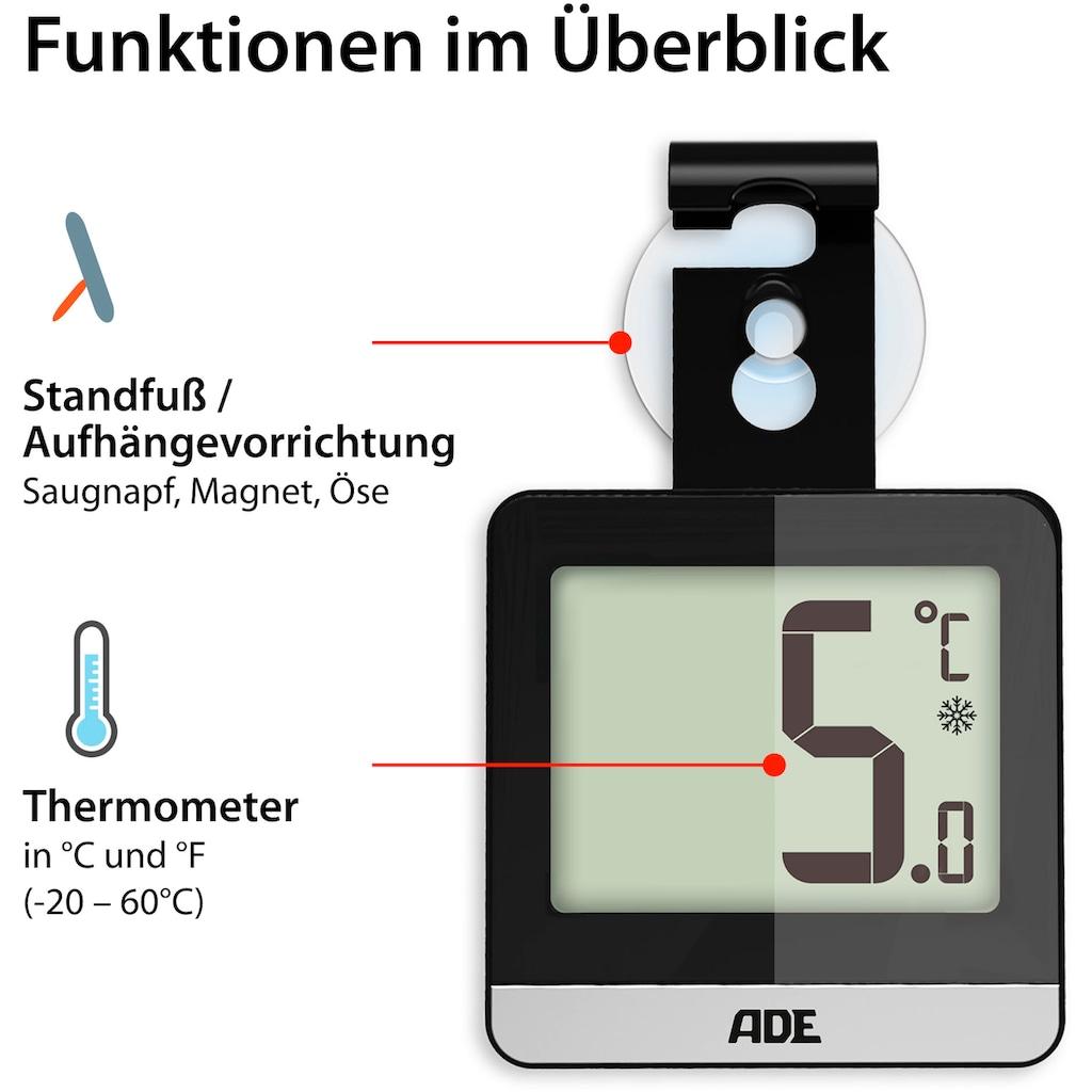 ADE Kühlschrankthermometer »WS1832«, mit Saugnapf, Magnet, Haken