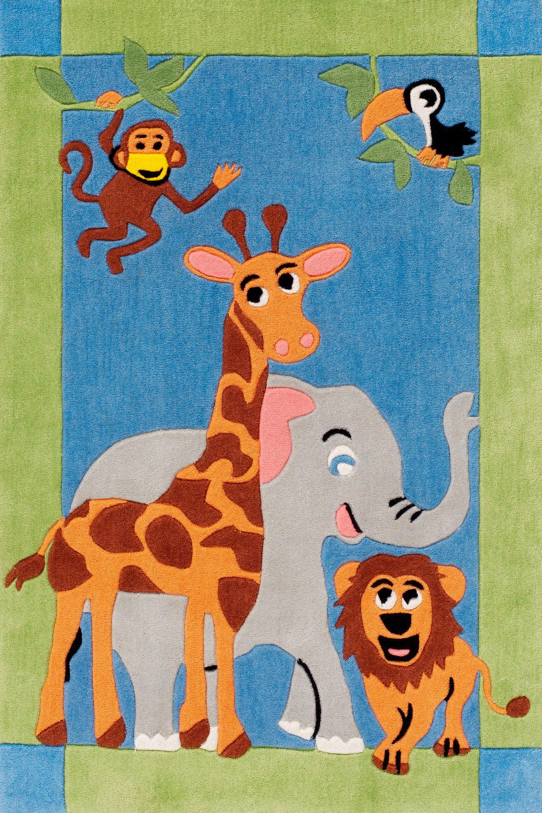 Kinder-Teppich Böing Carpet Kids 1363 Höhe 11 mm handgetuftet