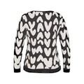 LeComte Langarmshirt, mit abstraktem Allover-Muster und Glitzersteinen