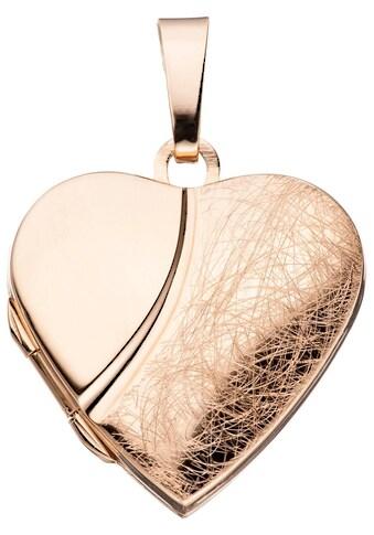 JOBO Medallionanhänger »Medaillon«, Herz 925 Silber roségold vergoldet kaufen
