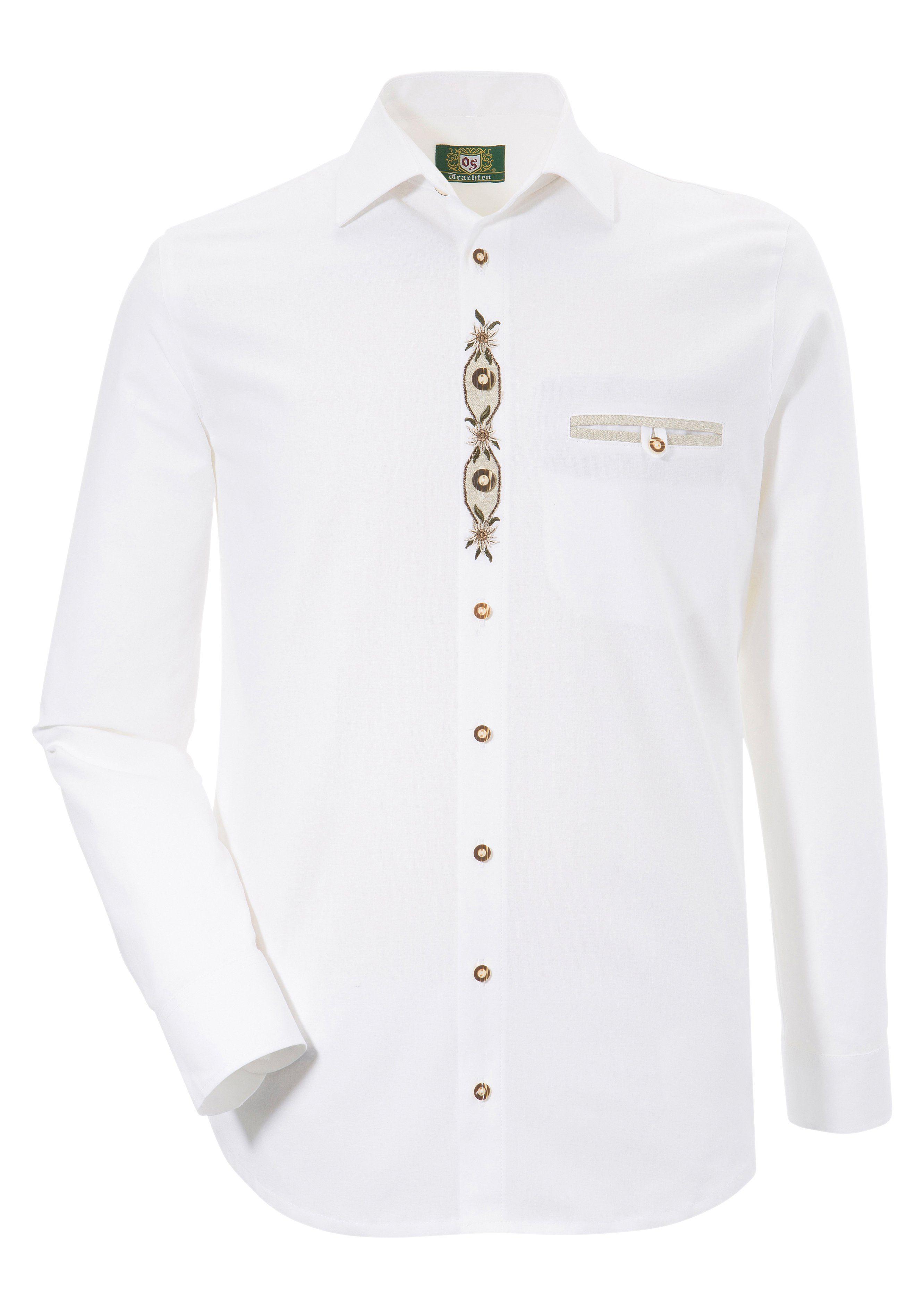OS-Trachten Trachtenhemd aus reiner Baumwolle | Bekleidung > Hemden > Trachtenhemden | Os-Trachten
