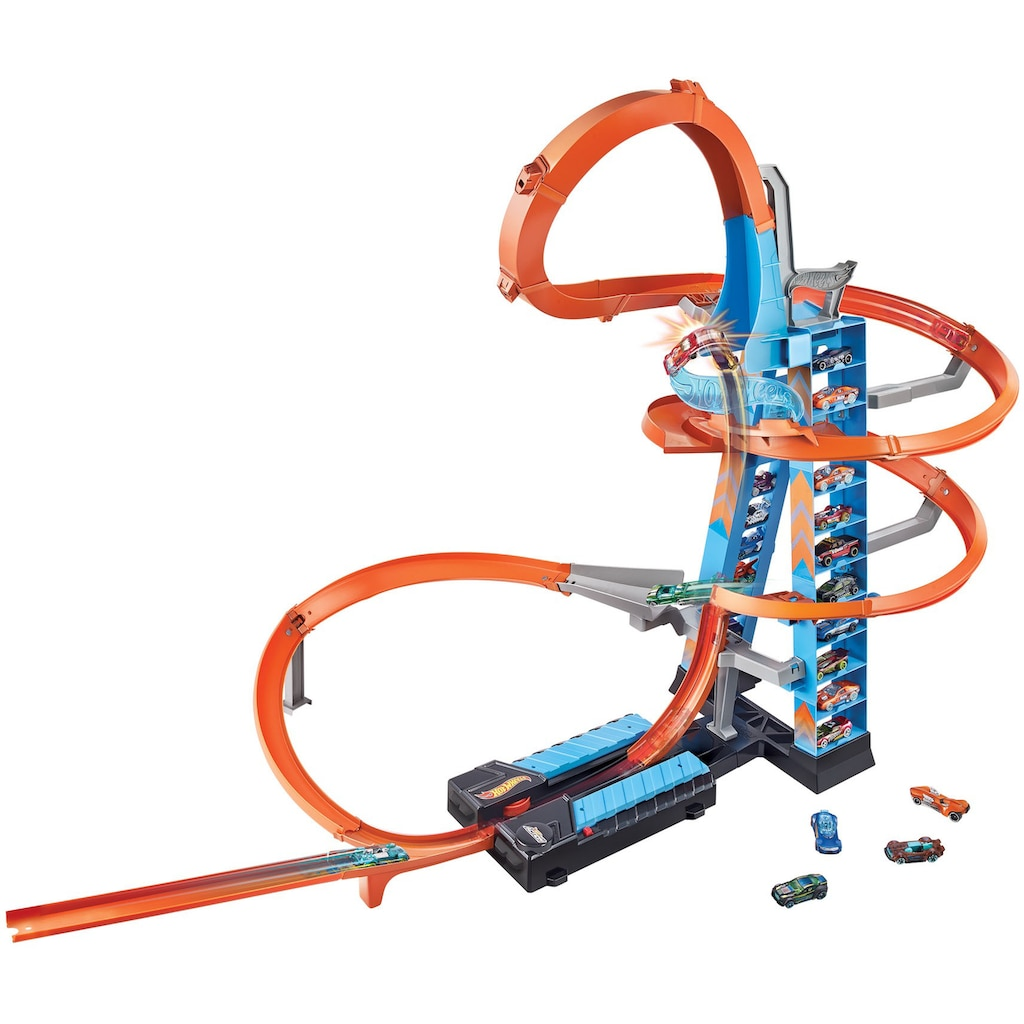 Hot Wheels Autorennbahn »Himmelscrash-Turm«, inkl. 1 Spielzeugauto