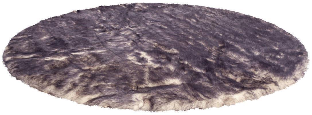 Fellteppich Crown 110 Kayoom rund Höhe 55 mm handgetuftet