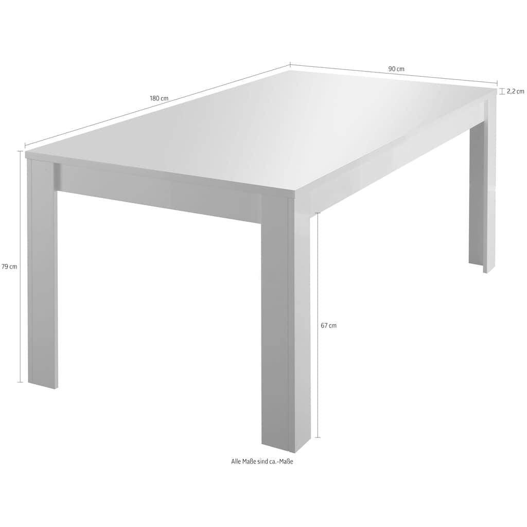LC Esstisch »Amalfi«, Breite 180 cm, erweiterbar durch Ansteckplatte
