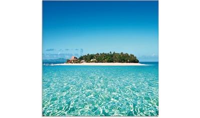 Artland Glasbild »Verblüffende Fiji Insel und klares Meer«, Gewässer, (1 St.) kaufen