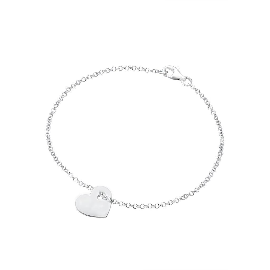 Elli Armband »Herz Anhänger Symbol Liebe 925 Silber«