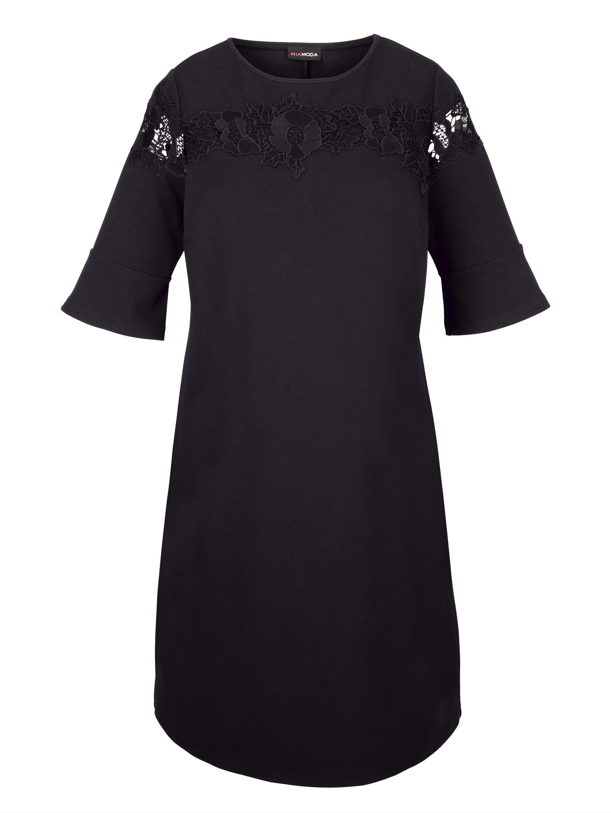 MIAMODA Kleid mit edler Spitzenapplikation
