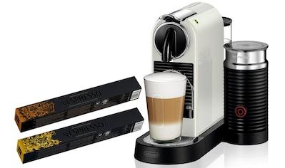 Nespresso Kapselmaschine »NESPRESSO CITIZ EN 267.WAE«, mit Aeroccino Milchaufschäumer und je 5 Kapsel-Pakete Genova Livanto & Ispirazione Venezia im Wert von 39,- € UVP kaufen