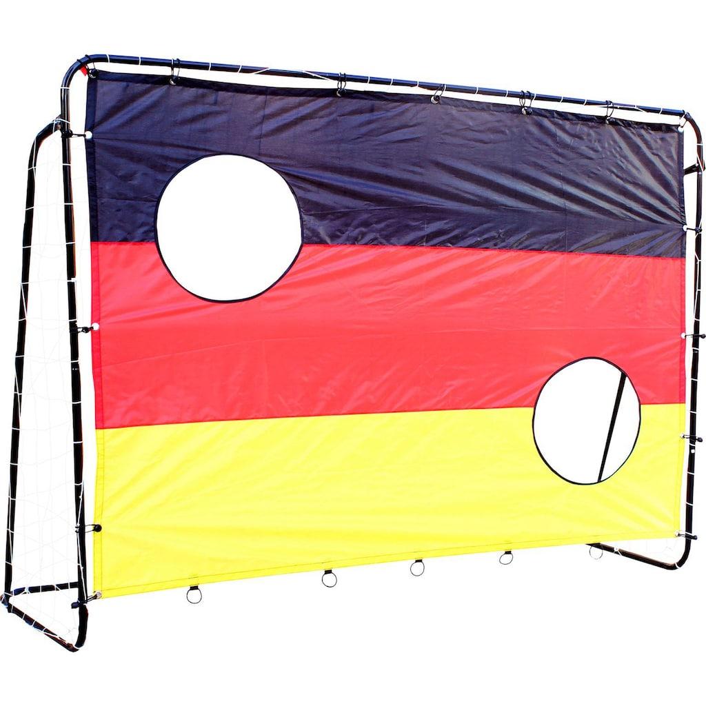 L.A. Sports Fußballtor »Soccer Goal 2in1 Set - Kinder Tor mit Netz und Torschusswand«, (2in1 Kinderfussballtor und Torschusswand)