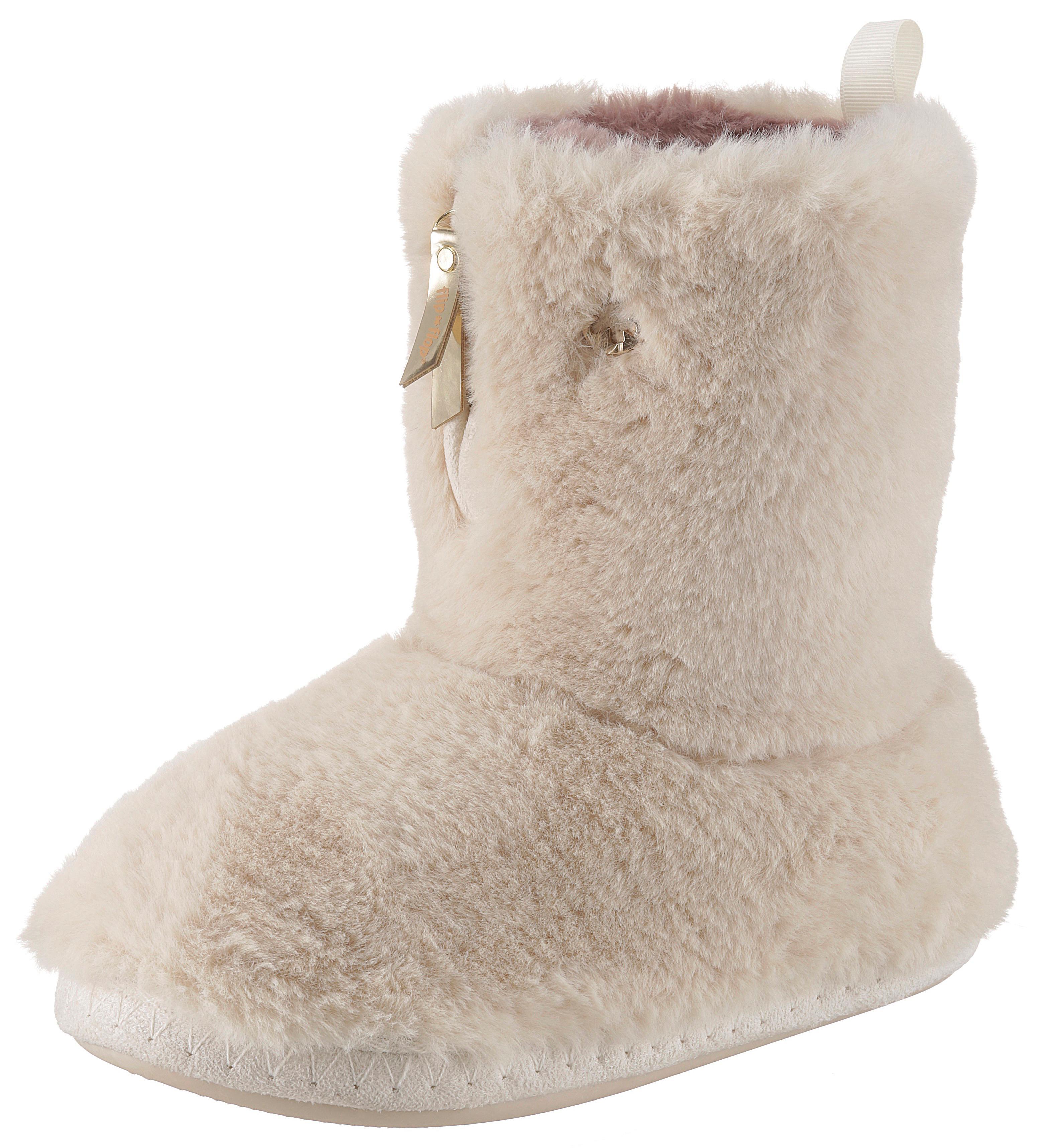 Flip Flop Hüttenschuhe Yeti | Schuhe > Hausschuhe > Hüttenschuhe | Beige | Flip Flop