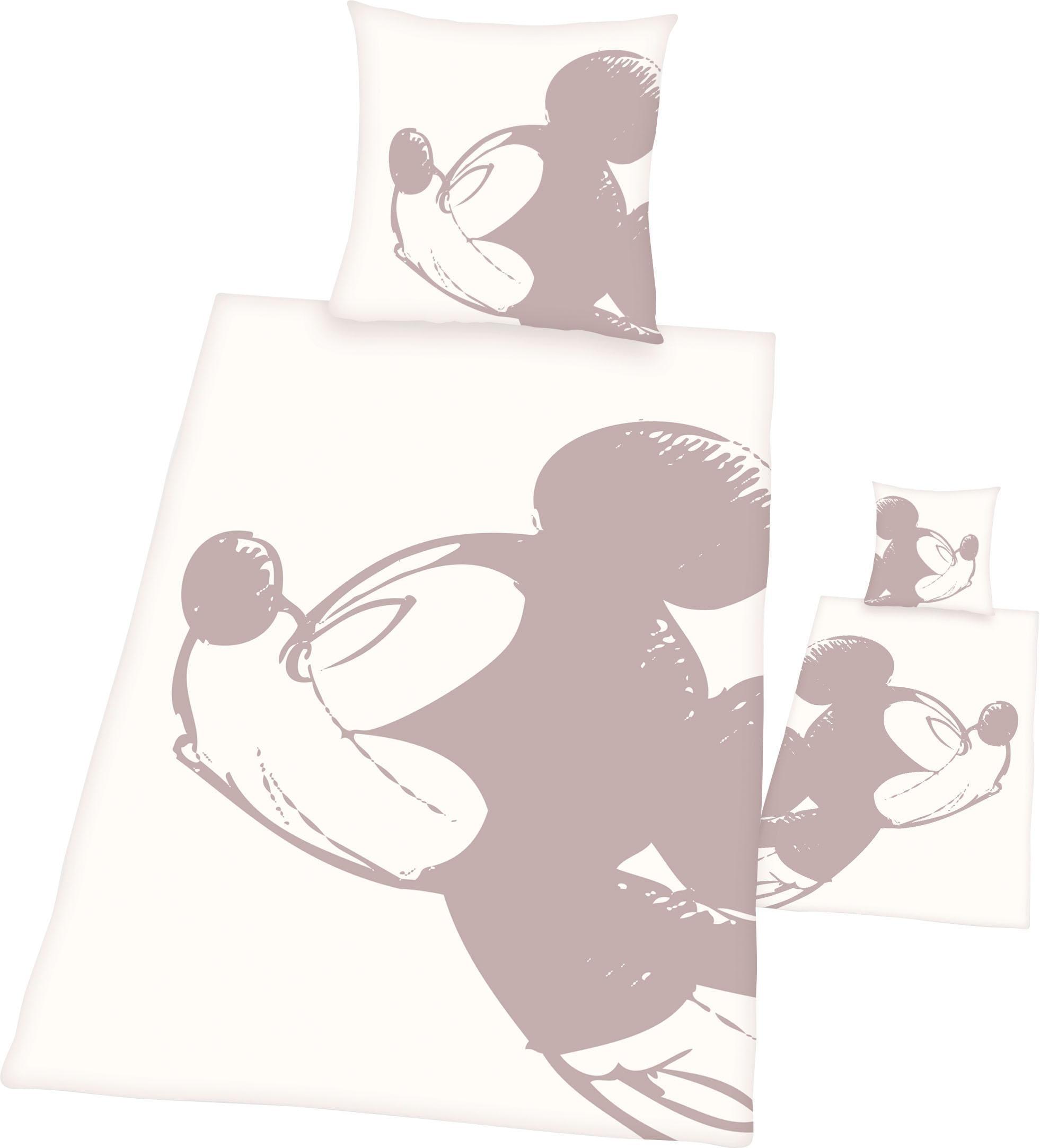 Disney Minnie Maus Minnie Mouse Bettw/äsche 100 /% Baumwolle mit Knopfleiste Wendebettw/äsche 1 x Kissenbezug 80 x 80 cm und 1 x Bettbezug 135 x 200 cm