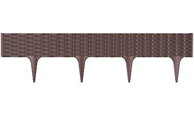 Prosperplast Beetumrandung »Garden border R222«, Länge 390 cm, dunkelbraun kaufen