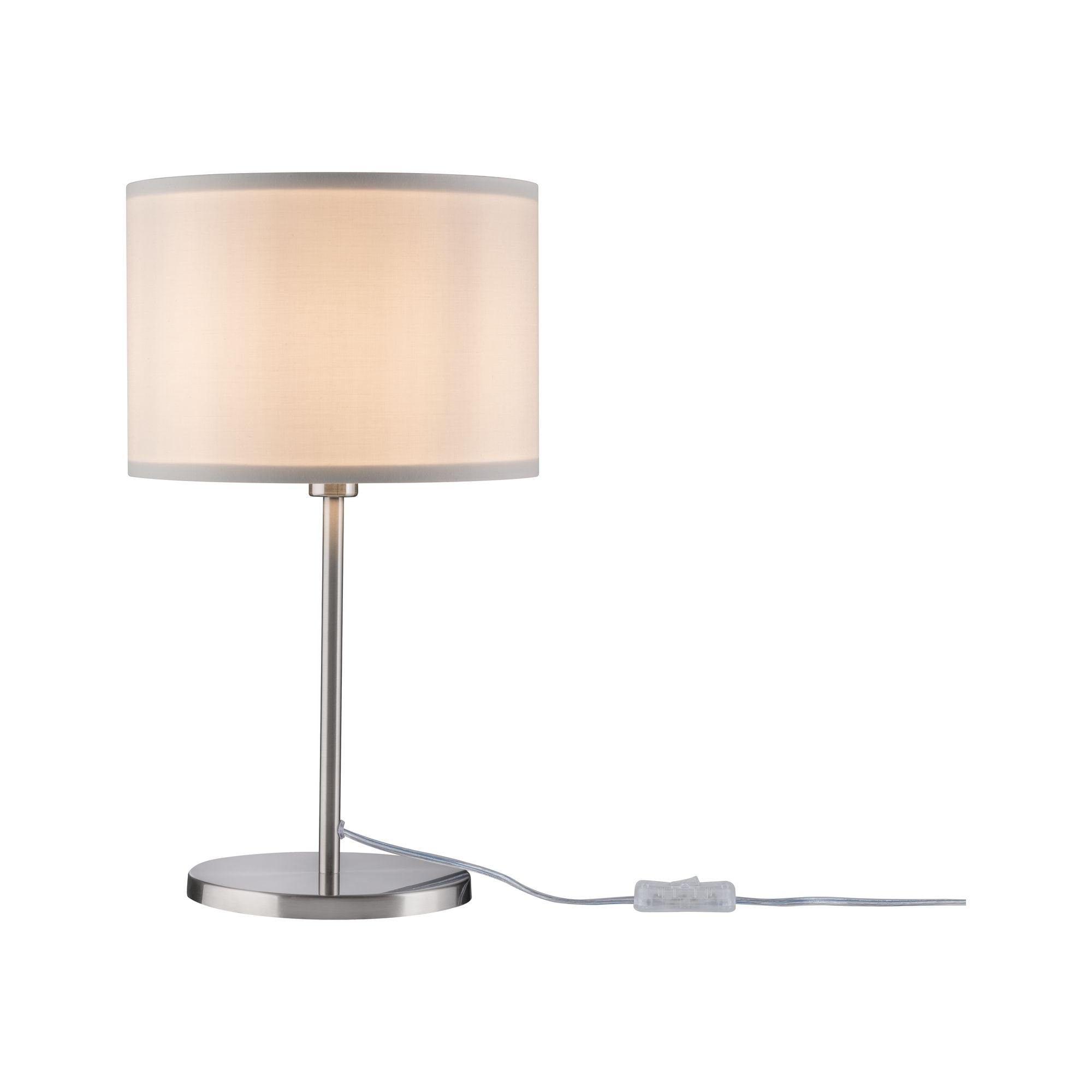 Paulmann LED Tischleuchte Tessa Creme/Eisen gebürstet, max. 40W E14, E14, 1 St.