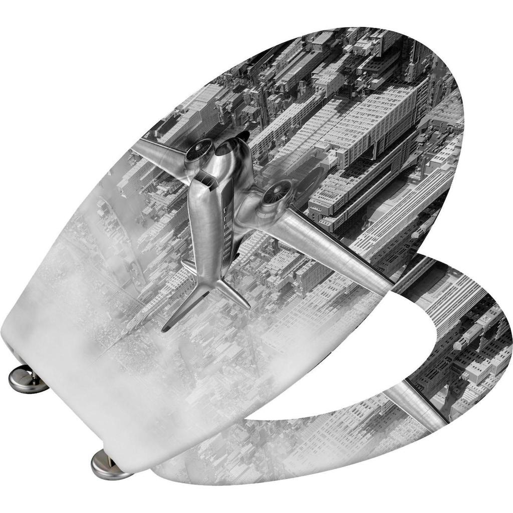 WENKO WC-Sitz »Old-Time Plane«