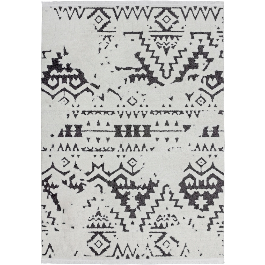 andas Teppich »Courtney«, rechteckig, 23 mm Höhe, ethno, Wohnzimmer